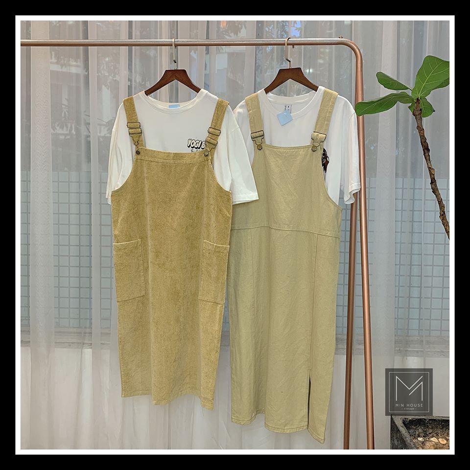 Đừng bỏ qua cách mix váy yếm và áo cộc tay hay áo phông trong hè này nàng nhé