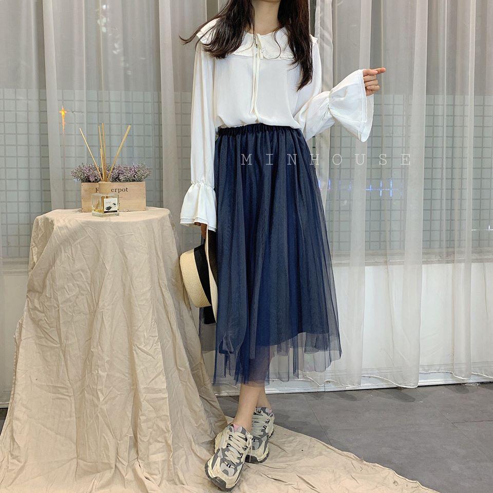 Mix áo sơ mi trắng và chân váy sao cho thật thời trang và không nhàm chán