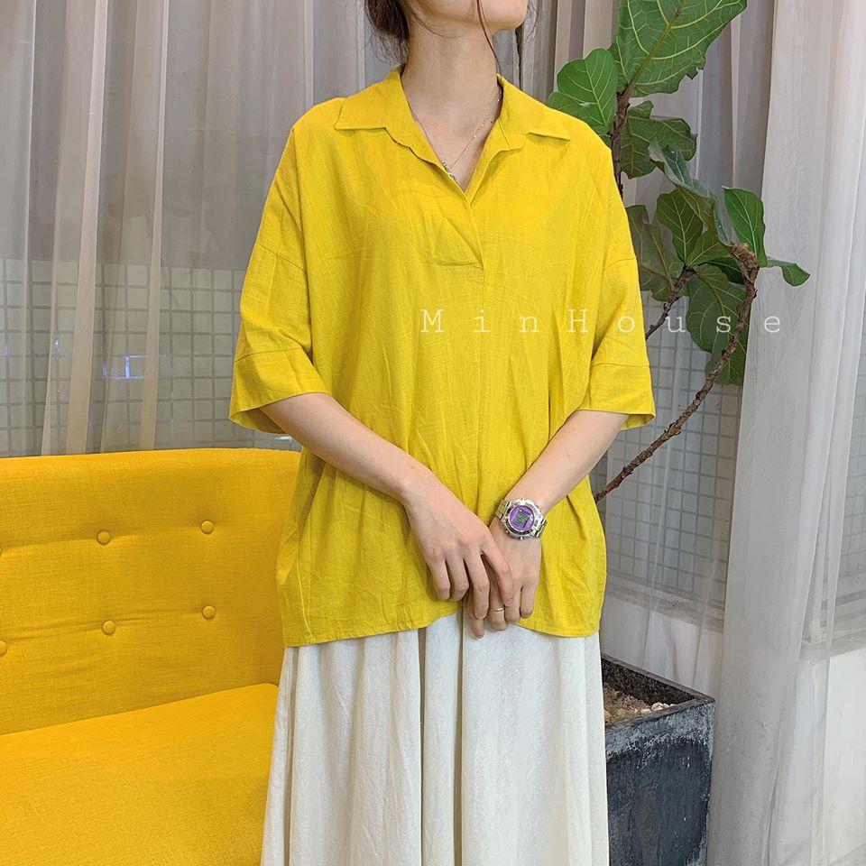 Những chiếc áo sơ mi nữ dáng rộng siêu hot mùa hè không thể thiếu trong tủ đồ