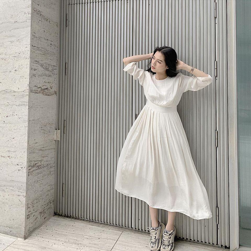 Đầm trắng thanh lịch, nữ tính cho nàng thêm nổi bật ngày hè