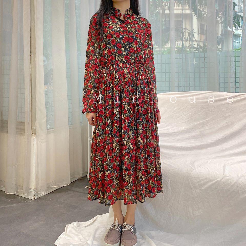 Váy liền dài hoa nhí - đừng bỏ phí vì đây là kiểu váy giúp nàng vừa trẻ vừa sang
