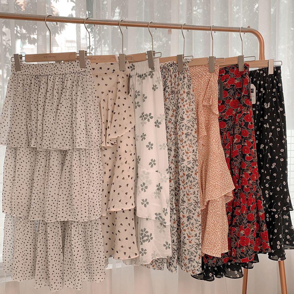 Váy xếp tầng siêu chanh sả cho các nàng tha hồ làm điệu
