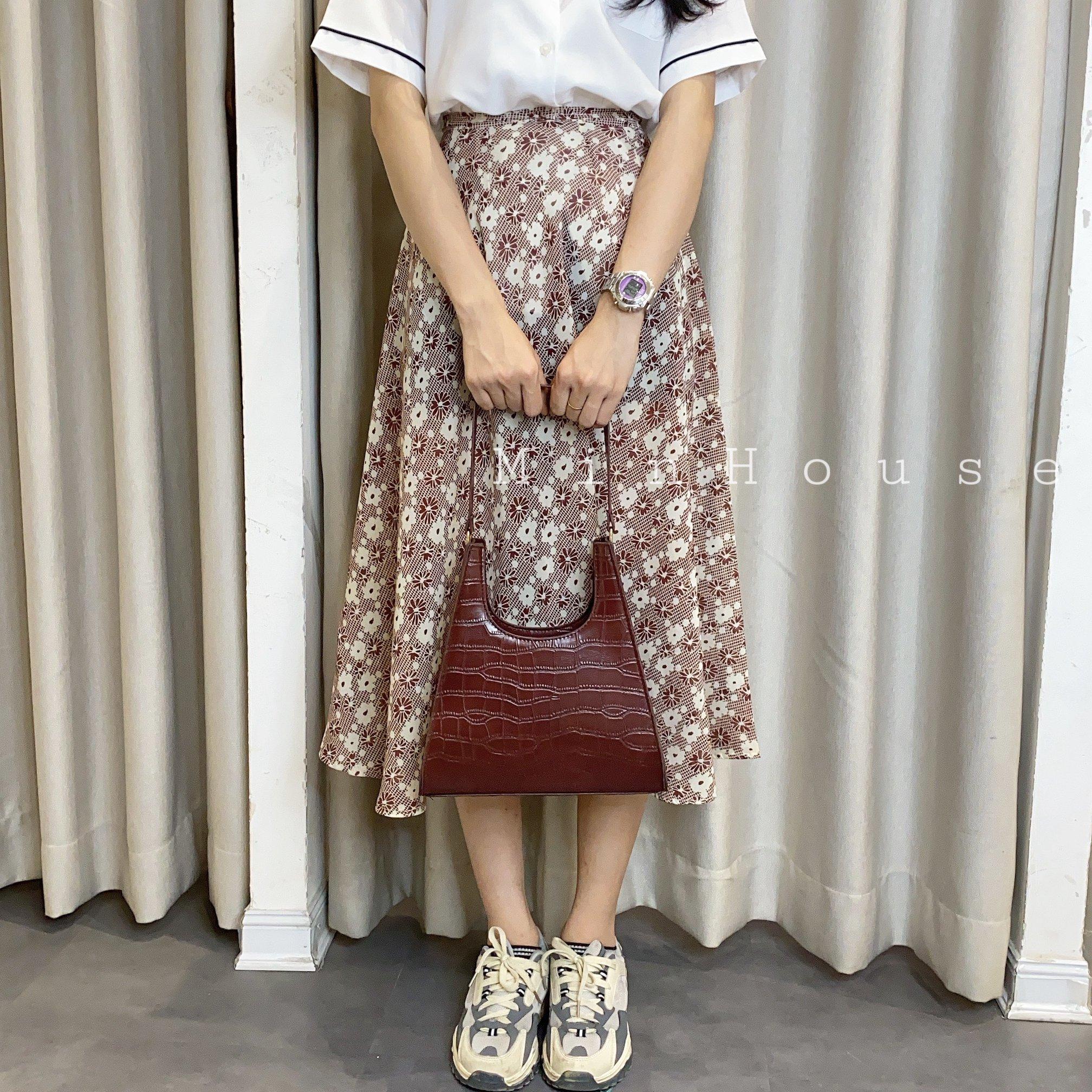 Phối chân váy chữ A dáng dài chuẩn style Hàn điệu đà