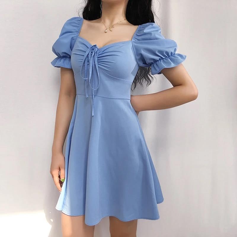Váy cổ vuông siêu yêu cho nàng ngày hè năng động, trẻ trung