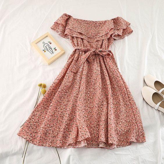 Váy đầm trễ vai đẹp, quyến rũ dành cho bạn gái trẻ trung