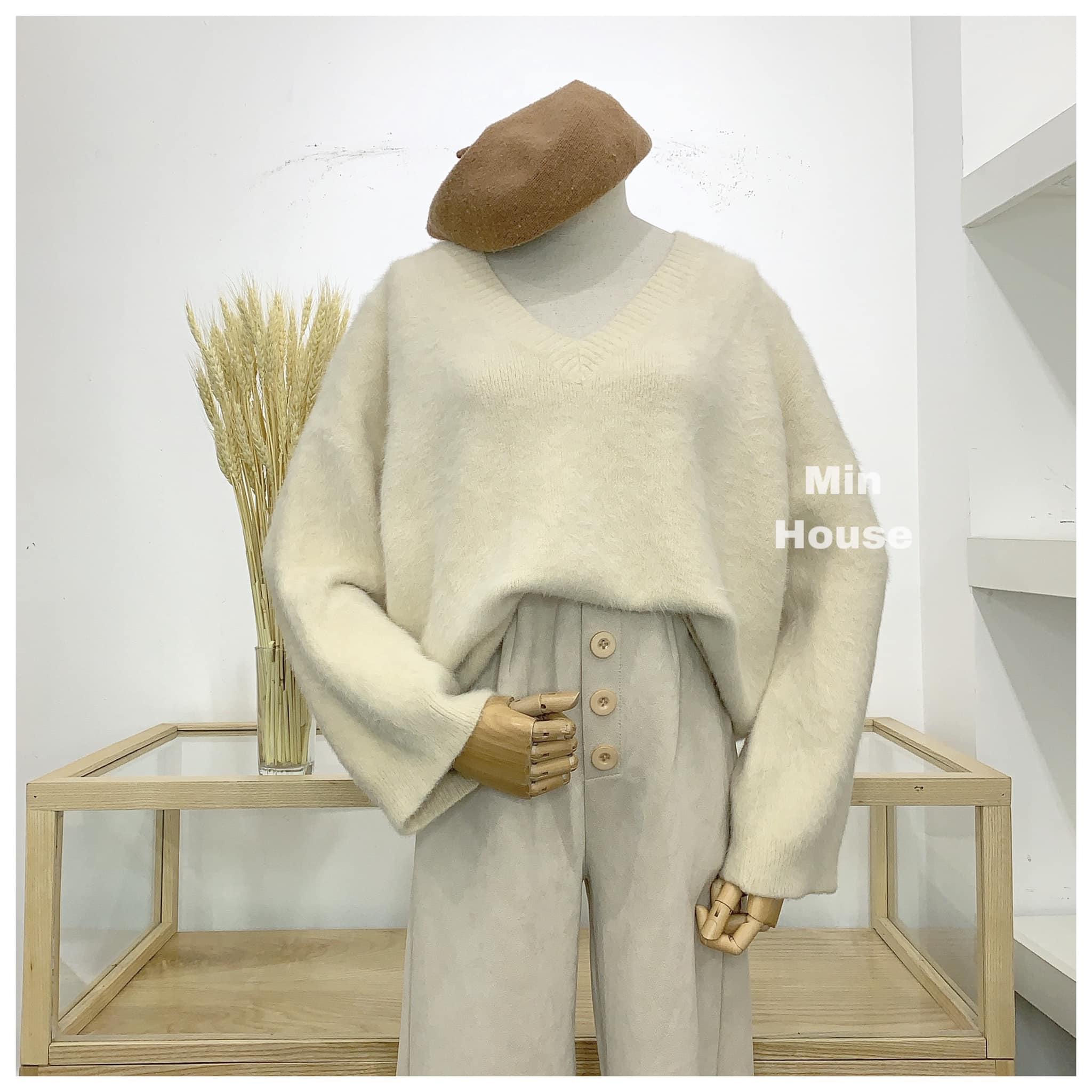 Áo len cổ tim – Item không thể bỏ qua vào mùa thu cho các nàng
