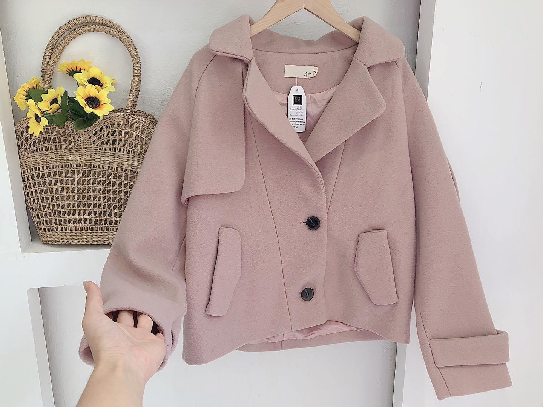 Cực hót mẫu áo khoác dạ nữ ngắn phong cách Hàn Quốc sang chảnh